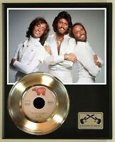 """The Bee Gees """"New York Mining Disaster 1941"""" Record Display Wood Plaque"""
