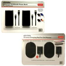 2-Pack ubiolabs Universal, 10,000mAh Power Bank or Charging Pad For Cell Phomes