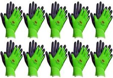 3m Green Work Gloves Woman Nitrile Rubber Coated Grip Touch Screen Bulk 10 Pack