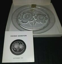 Lalique Glass (Signed) Sept 1976 Australia Commemorative Plate, Box & Cert