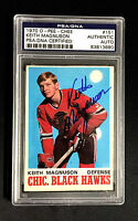 KEITH MAGNUSON SIGNED 1970 O-PEE-CHEE ROOKIE CARD BLACKHAWKS  PSA/DNA AUTO