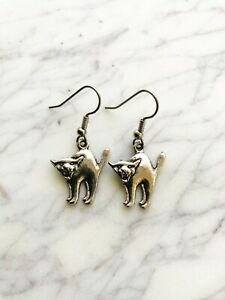 Cat Earrings Spirit Animal Witch Pagan Celtic Native American Astrology