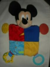 New listing Baby Disney Mickey Mouse Activity Toy Crinkle Teether Plush Doll