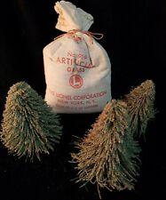 Vintage Lionel No. 919 Artificial Grass Original Bag Train Locomotive & 3 trees