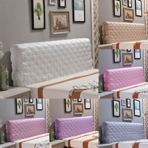 Luxury Silk Bed Headboard Slip Cover Protector Bed Decoration King Size