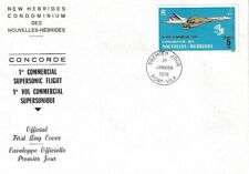 NEW HEBRIDES 1976 CONCORDE (SGF221) FIRST DAY COVER