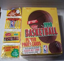 1990-1991 FLEER BASKETBALL RACK BOX 2 JORDAN ALL STARS MINT FRESH FROM NEW CASE