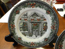 "royal stafford christmas house china EXCELLENT 11"" DINNER plate"