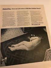 1966 VINTAGE 10X13 Ad METROPOLITAN LIFE INSURANCE POISONING HOW TO SAVE A CHILD