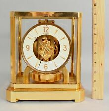 Modernist Vintage LECOULTRE ATMOS Perpetual Gold Gilt Brass Clock 15 Jewels, NR
