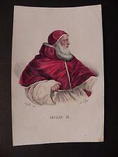 Papa Giulio II Giuliano della Rovere litografia originale 1840 Dolfino