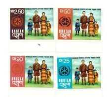 SPECIAL LOT Bhutan 1974 169-172 - World Pop. Yr. - 100 Sets of 4v - MNH Sheets
