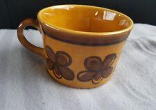 Metlox Poppy Trail Vernon Ware San Fernando Gold Cup Flower Carmel Brown Short