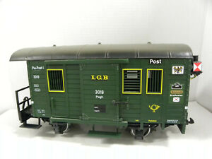 LGB 3019 G- Post Office Car with Working Interior and Tail Lamps
