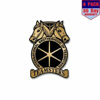 Teamsters 4 Stickers 4X4 Inch Sticker Decal