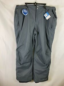 Columbia Mens Bugaboo 2 Pants Gray Size 4X