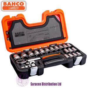 "BAHCO 24 PIECE 1/2"" SQUARE DRIVE METRIC SOCKET SET, 10 -32mm - S240"
