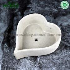Nicole Silicone Soap Mold Concrete Heart Shape Flower Vase Mold Garden Pots Mold