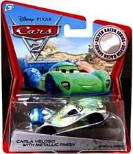 Cars 2 Silver Racer Series Carla Veloso with Metallic Finish Diecast Car