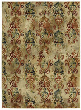 8' x 11' Karastan Machine Woven Area Rug Wile Multi Cream Gold Tobacco Garnet