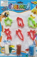 Kids Dough Tools Set Clay Play Doh Molds Rolling Pins Cutters Craft