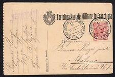 STORIA POSTALE Occ. Albania 1916 Cartolina da PM Tr. Occ 5 a Milano (FILX)