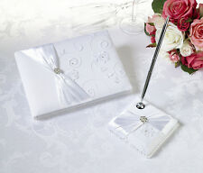wedding guest book White Lace Guestbook & Pen Set