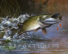 Muskie Fishing Motivational Poster Art Vintage Musky Lures St Croix Rods MVP320