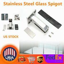 US! Floor Stand Stairs Balcony Pool Glass Spigots Post Balustrade Railing Clamps