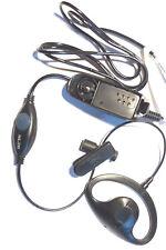 Earpiece for Motorola GP320 Series D-Ear with Lightweight PTT (Single Wire)
