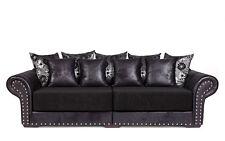 Couch Big Sofa Hawana-3 mit Schlaffunktion  Kolonialstil