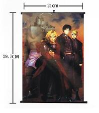 Hot Japan Anime Cosplay Fullmetal Alchemist Wall Scroll Art Poster Home Decor 01