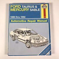 Haynes 1421 Ford Taurus & Mercury Sable Automotive Repair Manual 1986 thru 1995