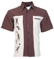 DRAGONFLY Mens BUTTON DOWN Shirt GOLF Charlie Sheen Bowling Camp Retro M-XXL $68