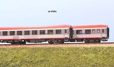 LS MODELS 47061 OBB set 2 carrozze  Bcmz  59-90 livrea rosso e grigio chiaro