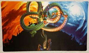 Dragon Ball Z Shenron Goku Bluma Playmat 14x24 Inch TCG CCG DBZ Game Mat
