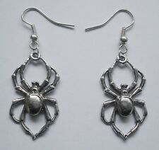 Earrings #107 Pewter Spider (32mm x 18mm) GOTH