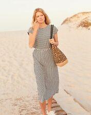 Joules Womens Alma Jersey Midi Dress - CREAM NAVY STRIPE