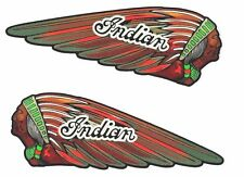 2 x INDIAN MOTORCYCLE FUEL TANK VINYL STICKER DECAL CHIEF SCOUT