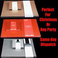 Silver Red Rose Gold Glitter Placemats & Coasters Sparkle Table Christmas Dinner