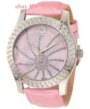 NEW BRILLIER 03-42327-05 Women's Kalypso Luxury Pink Leather Diamonds Watch