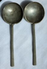 More details for rare pair 17th century slip top pewter spoons makers marks & owners initials