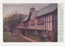 Corner of Office Buildings Bournville Vintage Postcard 550a