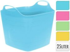 Square 25 Litre Flexi Trug Storage Tub Flexible Baskets Laundry Toy Bucket