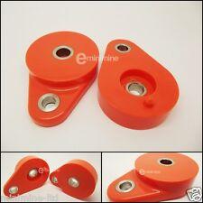 Classic Mini Polyflex Front Subframe Pear Mounts ORANGE pair poly tear drop pair