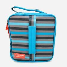 Goodbyn Expandable Lunch Kit Soft Box Bag Blue Snack Sandwich Containers