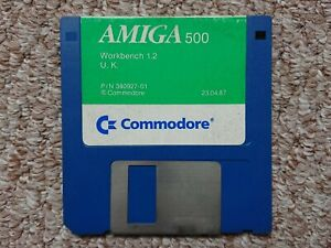 Commodore Amiga 500 Workbench 1.2 Original Disk 1987 - Free UK Postage