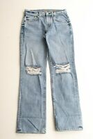 7 For All Mankind Rickie Boyfriend Fit Distressed Denim Jeans Size 24