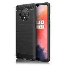 NALIA Handyhülle für OnePlus 7T Hülle, Carbon Look Ultra-Slim Silikon Case Dünn