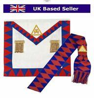 Lambskin Leather Masonic Royal Arch Companions Apron & Sash RA Chapter Regalia